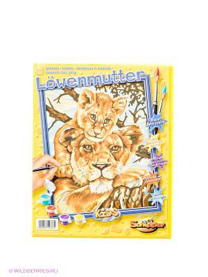 Раскраска по номерам Львица с львенком Schipper. Цвет: оранжевый