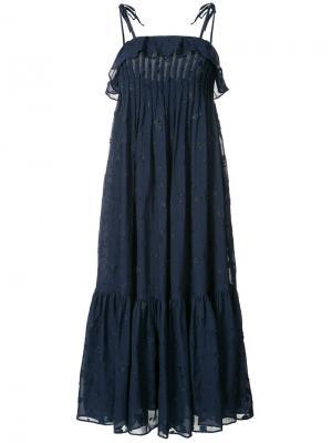Плиссированное платье шифт Co. Цвет: синий