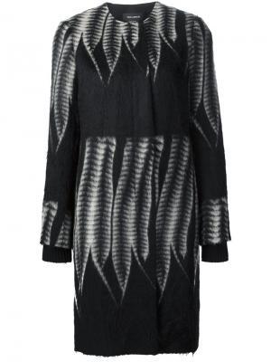 Пальто с контрастным принтом Yigal Azrouel. Цвет: чёрный