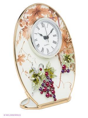 Часы Виноградная лоза JARDIN D'ETE. Цвет: коричневый, светло-зеленый, белый, золотистый, сливовый