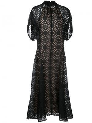 Платье Burnout Archer Bianca Spender. Цвет: чёрный