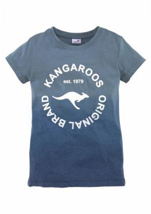Футболка Kangaroos. Цвет: розовый, синий