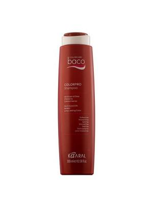 Baco Шампунь для окрашенных волос с гидролизатами шелка и кератином Colorpro Shampoo 300мл. Kaaral. Цвет: темно-красный