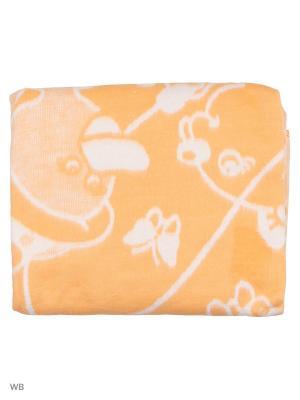 Одеяло детское 100х118см, 100% хлопок KIDONLY. Цвет: оранжевый