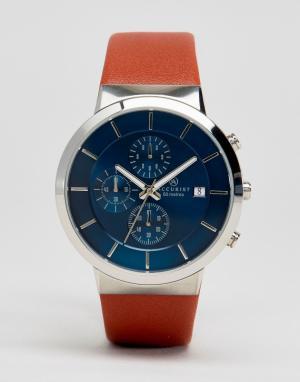 Accurist Часы с хронографом и коричневым кожаным ремешком. Цвет: рыжий