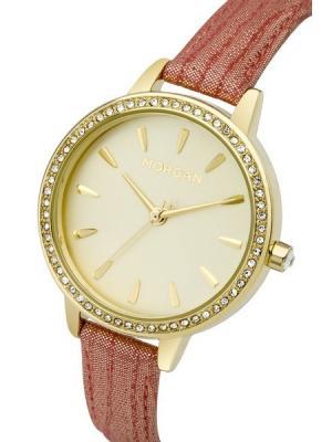 Часы Morgan. Цвет: коралловый