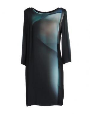 Короткое платье STILLS. Цвет: темно-зеленый
