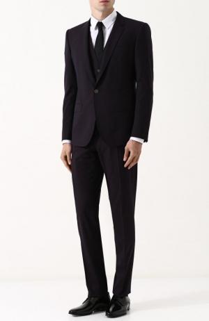 Шерстяной костюм-тройка Dolce & Gabbana. Цвет: бордовый