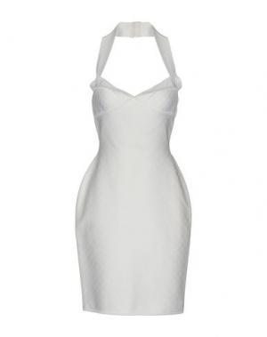 Короткое платье HERVE' L. LEROUX. Цвет: белый