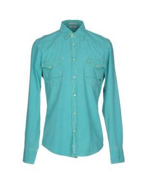 Джинсовая рубашка CYCLE. Цвет: светло-зеленый