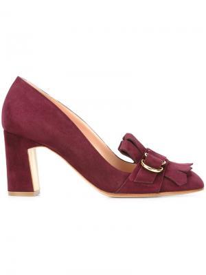 Туфли с бахромой Rupert Sanderson. Цвет: розовый и фиолетовый