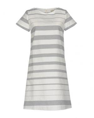 Короткое платье BRUNO MANETTI. Цвет: серый