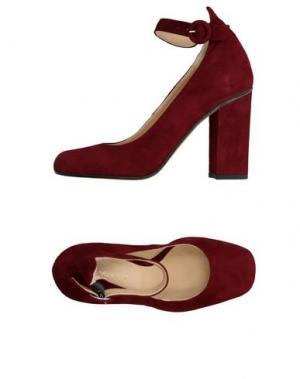Туфли LUCA VALENTINI. Цвет: красно-коричневый