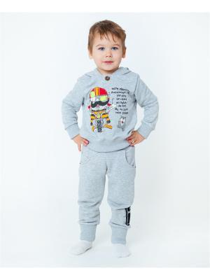 Комплект одежды VATAGA. Цвет: серый меланж