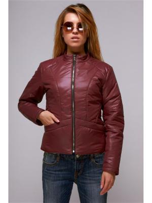 Куртка женская Nikolom. Цвет: бордовый