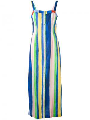 Платье длины миди Sheath Mara Hoffman. Цвет: синий
