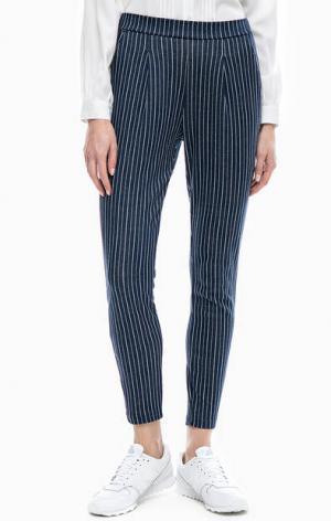 Трикотажные брюки в полоску LERROS. Цвет: синий