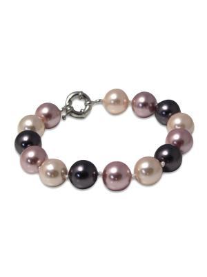 Браслет Dolce Vita Grey из жемчуга майорки на замочке Магазин браслетов. Цвет: серый, серебристый, светло-серый, серый меланж, светло-бежевый, бежевый, молочный, бледно-розовый, персиковый, кремовый, белый
