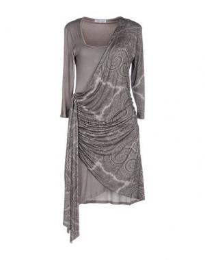 Короткое платье MISS MONEY. Цвет: серый
