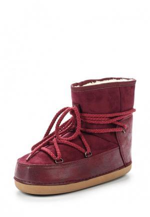 Луноходы Ideal Shoes. Цвет: бордовый