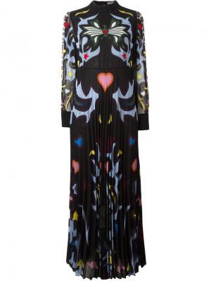Платье Mizar с графическим узором Mary Katrantzou. Цвет: чёрный
