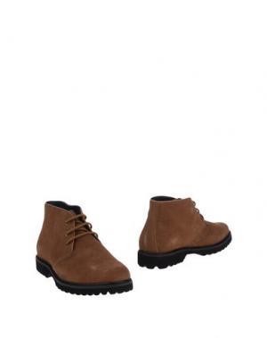 Полусапоги и высокие ботинки HENRY COTTON'S. Цвет: хаки
