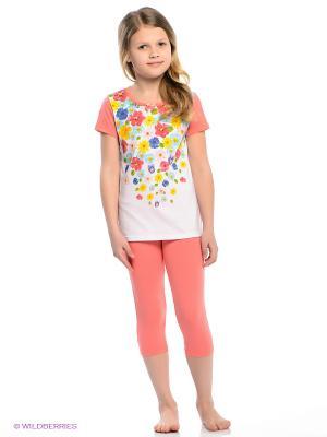 Пижама Vis-a-vis. Цвет: коралловый, белый