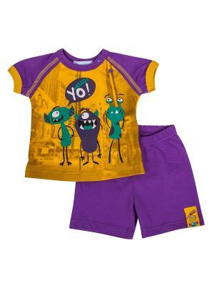 Комплект (джемпер+шорты) Бимоша. Цвет: фиолетовый
