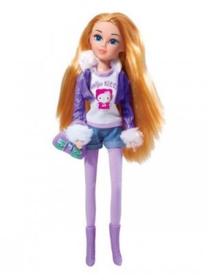 Кукла карапуз мария hello kitty 29см, зимние приключения, с аксесс.. Цвет: белый, фиолетовый, розовый