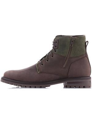 Ботинки SKECHERS. Цвет: оливковый, коричневый