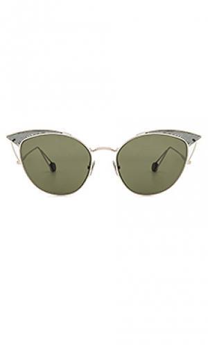 Солнцезащитные очки place violet Ahlem. Цвет: металлический серебряный