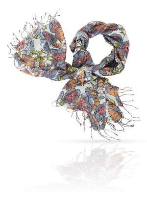 Палантин MICHEL KATANA`. Цвет: коричневый, серо-голубой, серо-зеленый
