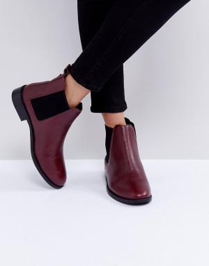 Faith Кожаные ботинки челси Binkie. Цвет: красный