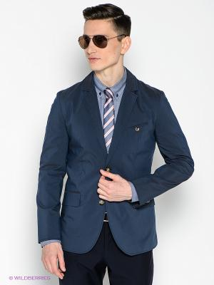 Пиджак Donatto. Цвет: темно-синий