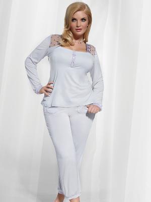 Пижама KrisLine. Цвет: серый, сиреневый