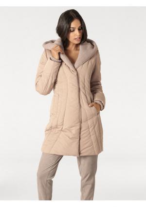 Стеганое пальто Rick Cardona. Цвет: розовый, хаки