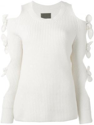 Lovelace knit dress Zoe Jordan. Цвет: белый
