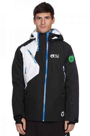 Куртка  Bioceramic Matt Jkt Black Picture Organic. Цвет: белый,черный
