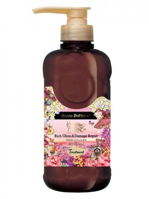 Бальзам-ополаскиватель растительный для объема, восстановления и шикарного блеска волос, 500 мл AHALO BUTTER. Цвет: розовый