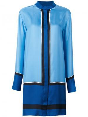 Платье-рубашка с воротником-стойкой Diane Von Furstenberg. Цвет: синий