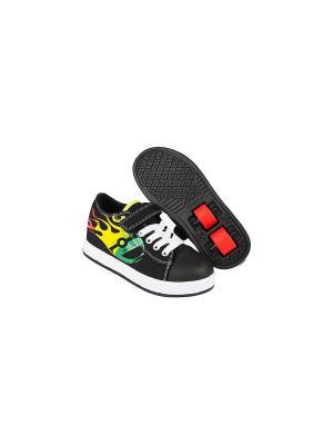 Роликовые кроссовки Heelys Spiffi X2. Цвет: черный, желтый, белый