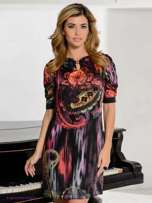 Платье BOVONA. Цвет: черный, темно-бордовый, фиолетовый, коралловый