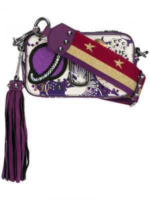 Декорированная сумка-футляр Snapshot Marc Jacobs. Цвет: розовый и фиолетовый