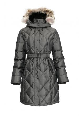 Пуховик с поясом и капюшоном Kimberly limFW Arctic Bay. Цвет: серый
