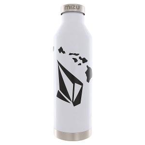 Бутылка для воды  Volcom V8 Stone Hawaii Glossy White Black Print Mizu. Цвет: белый