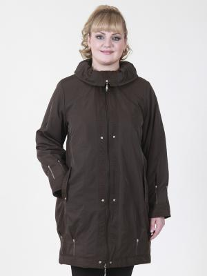 Куртка Бритта VIKO. Цвет: серо-коричневый