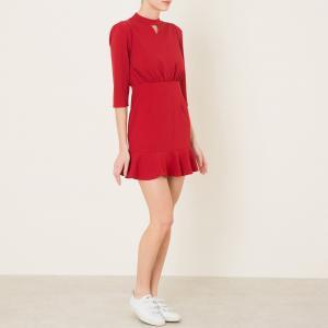 Платье со складками SISTER JANE. Цвет: красный