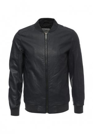Куртка кожаная Blend. Цвет: синий