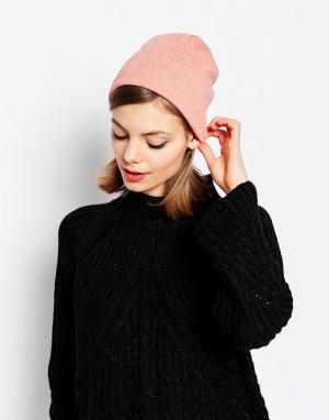 Hat Attack Свободная шапка-бини из легкого трикотажа. Цвет: розовый