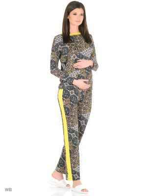 Домашние костюмы MammySize. Цвет: желтый, серо-коричневый, серый меланж